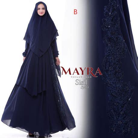 Gamis B Syari restok sisil syari b baju muslim gamis modern