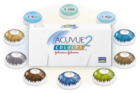 acuvue colored contact lenses acuvue 2 colours 6 lenses per box 1 2 weekly coloured