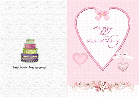Birthday Cards Through 8 Best Images Of Printable Birthday Cards From Us Free