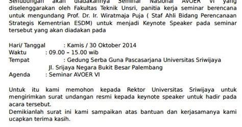 contoh permohonan surat pembicara seminar keynote nasional
