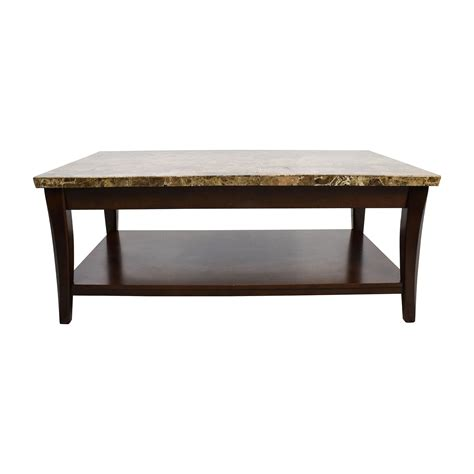 Wood And Marble Coffee Table Shop Craps Coffee Table