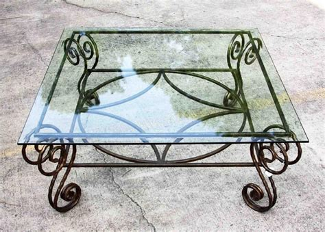 wrought iron glass coffee table antique wrought iron table bases antique copper wrought