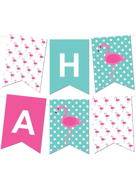 printable banner creator free printable polka dot flamingo pennant banner maker
