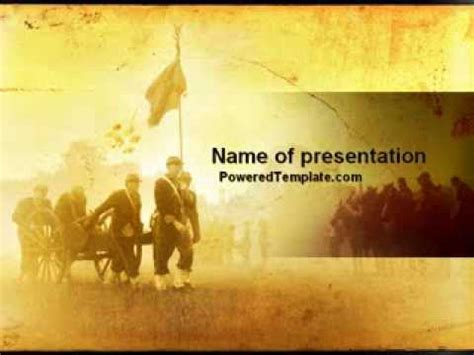 american civil war powerpoint template by poweredtemplate