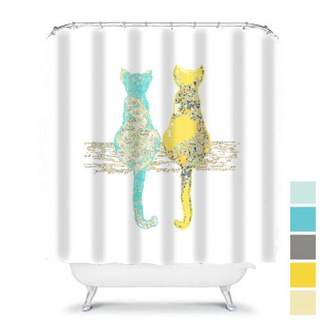 cat shower curtains cat shower curtain shabby chic shower curtain cats shower