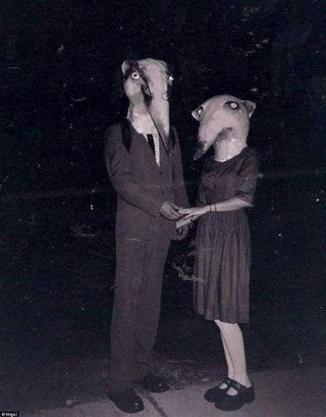 15 of the creepiest photos of all time with bone chilling halloween costumes from a bygone era will put your outfit