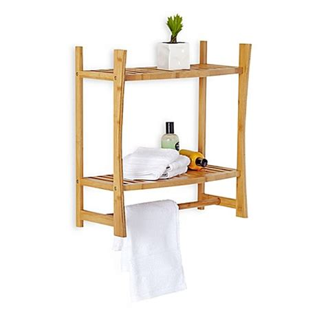 bamboo shelves bathroom buy bamboo wall mount shelf from bed bath beyond