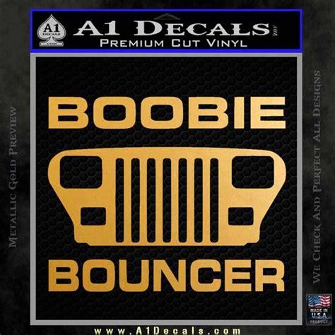 Emblem Jeep Warna Gold jeep boobie bouncer decal sticker 187 a1 decals