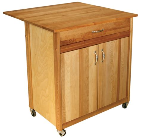 Cuisine Butcher Block Kitchen Island Cart With Drop Leaf | cuisine butcher block kitchen island cart with drop leaf