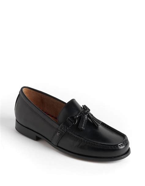 polo ralph loafers polo ralph arscott tassel leather loafers in black