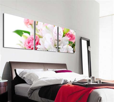 bedroom prints 3 panel modern wall art home decoration frameless oil