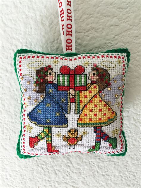 A Cross Stitch Handmade - handmade cross stitch ornament tree