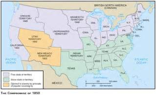1850 united states map eventscivilwar compromise of 1850