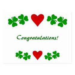 congratulations shamrock blessing card postcard zazzle