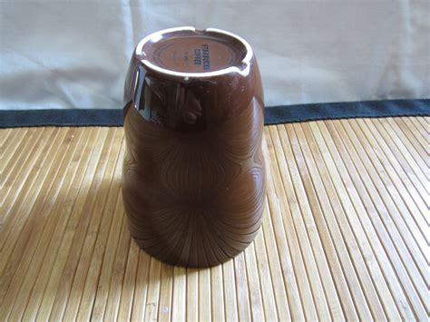 no handle coffee mugs a starbucks brown aida coffee tea cup no handle 8oz 2008