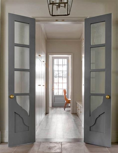 home office doors with glass long and narrow home office with gray bi fold doors