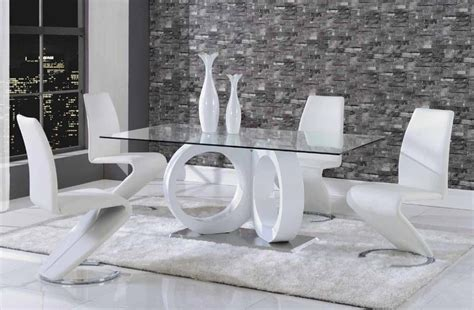 white leather dining room set luxurious rectangular glass top leather 5 pc dinette set