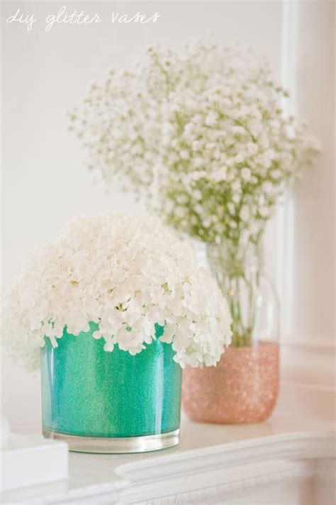 diy vase diy glitter vases the sweetest occasion the sweetest