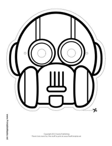printable robot eyes printable round vertical robot mask to color mask