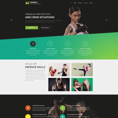 website templates for karate martial arts website templates