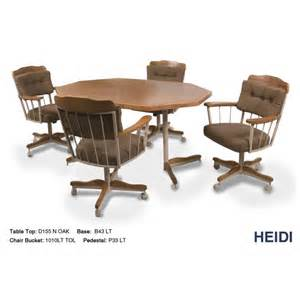 dinette sets with caster chairs more views