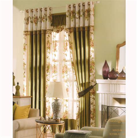 elegant curtain elegant curtains country dark green floral jacquard