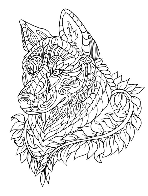 coloring pages to color coloring pages animal patterns wolf