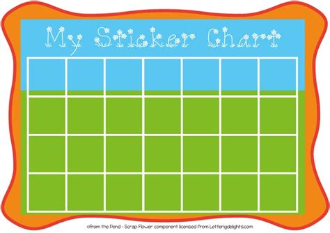 free printable sticker chart random kid stuff pinterest