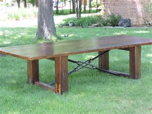 Rustic Conference Table Barn Wood Conference Dining Table Rustic Wood Top By Burntrock