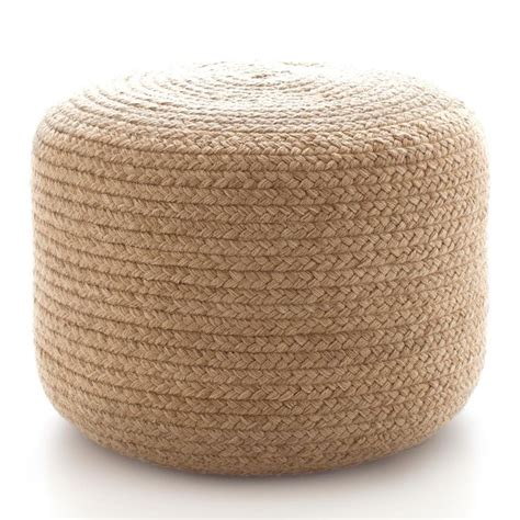 Outdoor Ottoman Pouf Braided Indoor Outdoor Pouf Ottomans Front Porches And Tables