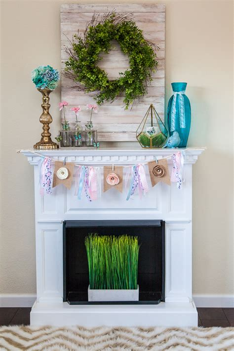 how to decorate how to decorate a mantel for diy burlap banner