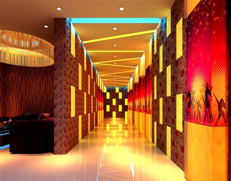 Lighting Design Ktv Hallway Lighting Design Rendering