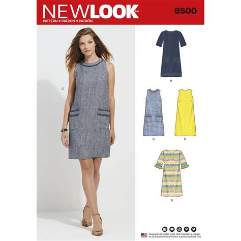 youtube pattern for a shift dress make this classic cut shift dress in sleeveless or 3 4