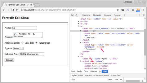 tutorial html php dan mysql tutorial php dan mysql membuat aplikasi crud studi kasus