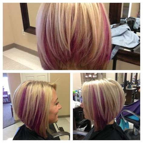 reverse bob with two tone color 25 best ideas about pink peekaboo hair on pinterest