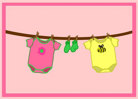 Clothesline Clip Art Girl Pictures To Pin On Pinterest Baby Laundry