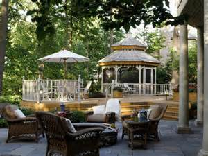 Backyard Patio With Gazebo by Dreamy Patios And Decks Diy