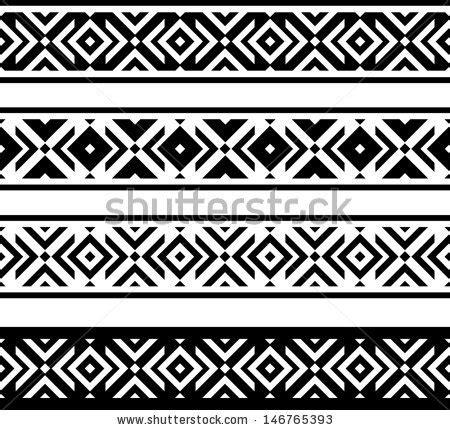 primrose tattoo with geometric border maori polynesian style bracelet pattern stock
