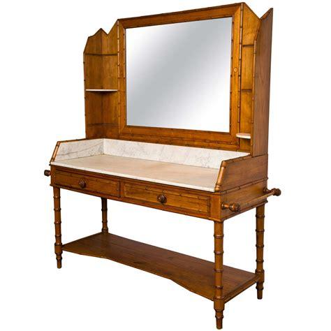 Pine Vanity Table Pine Faux Bamboo Vanity C 1890 1900 At 1stdibs