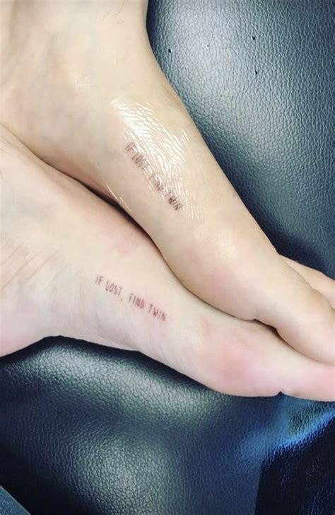 matching foot tattoos thorne s 12 tattoos their meanings guru