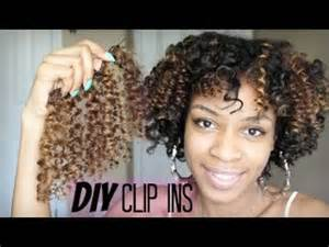 curly clip ins to match hair how to make diy curly clip in hair extensions for natural