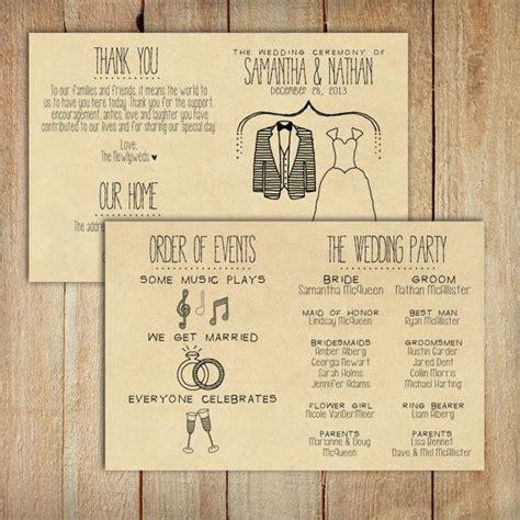 Wedding Program DEPOSIT   Printable, Custom   DIY Wedding