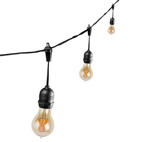 Outdoor Light Bulb String Outdoor Led Decorative String Lights 10 Pendant Sockets Fits E26 Bulbs Empty Bases