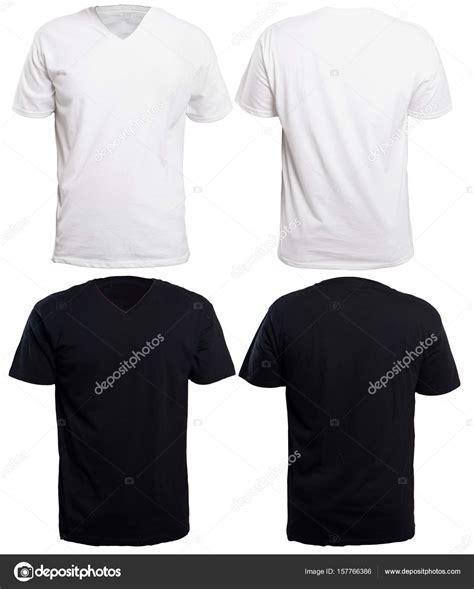 Black White V Neck Shirt black and white v neck shirt mock up stock photo