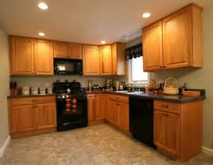 kitchen colors that go with golden oak cabinets google