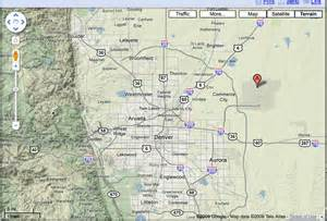 map of colorado airports denver