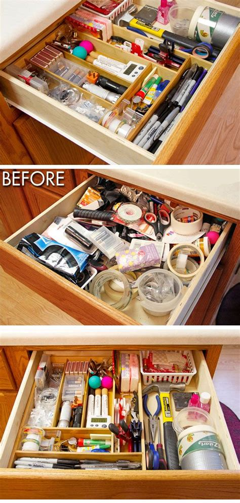 Junk Drawer Organizer Diy by 20 Easy Storage Ideas For Small Spaces Declutter Your