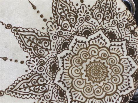asymmetrical henna tambourine 8 mandala drum mehndi