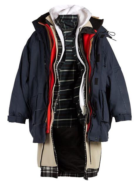 Layer Parka Jacket ridiculiously oversized seven layer parkas balenciaga coat