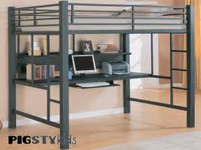 loft bed with sized bed and desk for the home